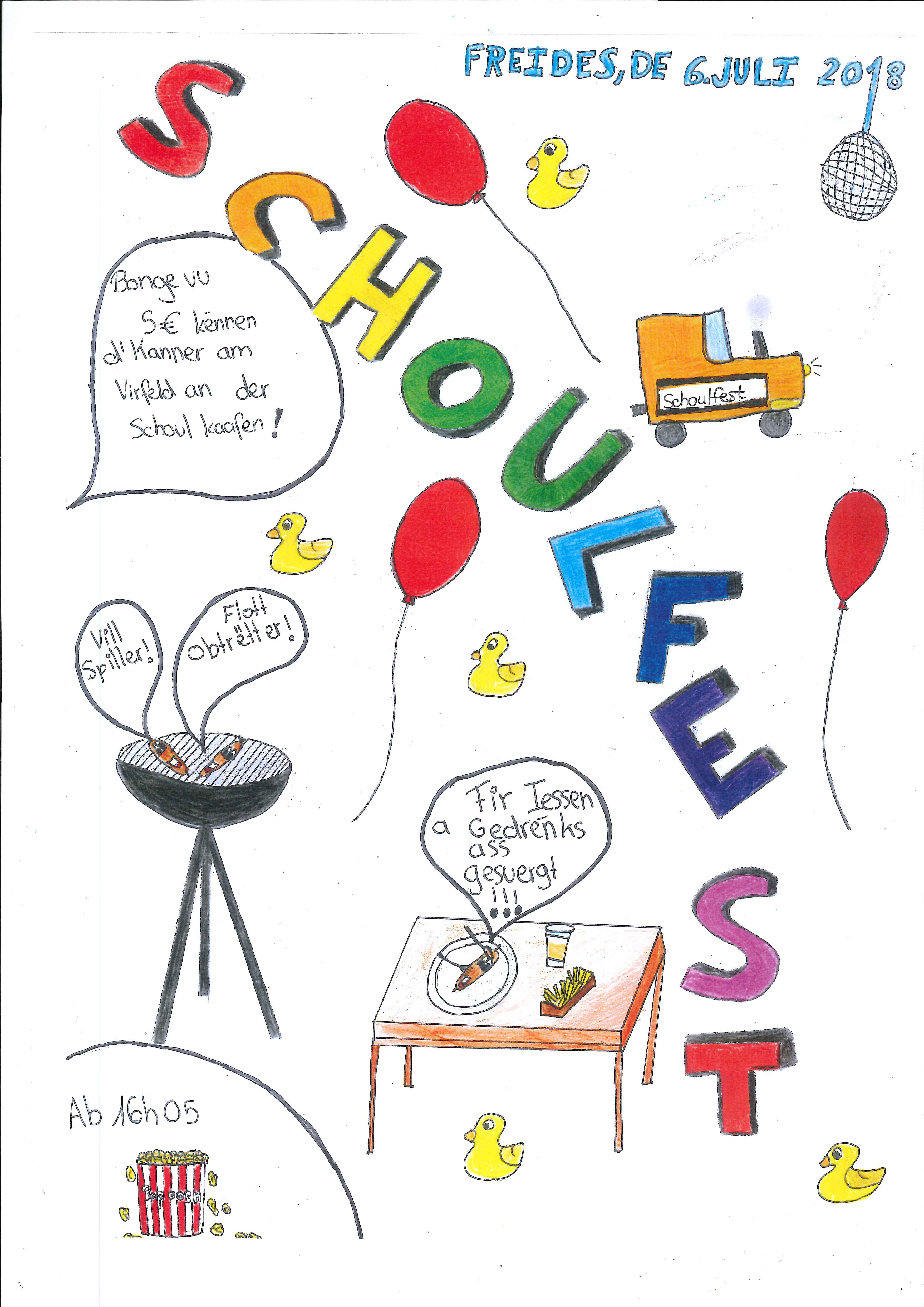 Schoulfest - Fête scolaire (Schoul Rued-Syr)